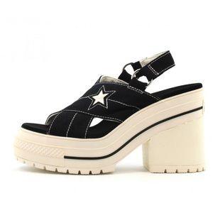 Converse Ctas One Star Boardwalk Strut Sandal Heel